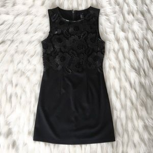 Forever 21 | Black mini dress with florals